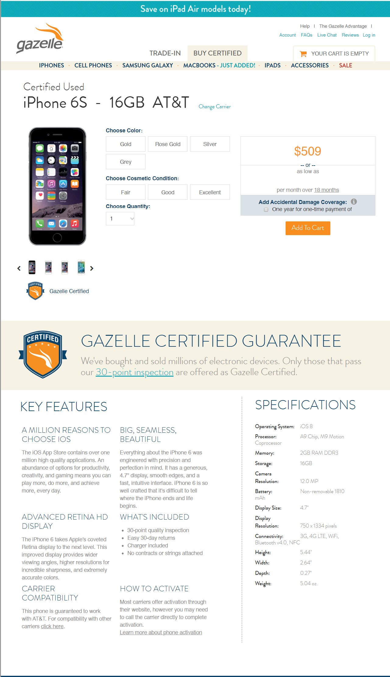 Gazelle Original Home Page